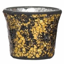 Yankee Candle Black & Gold Votivhalter