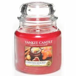 Yankee Candle Jar Glaskerze mittel 411g Christmas Memories