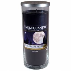 Yankee Candle Pillar Glaskerze gross 566g Midsummers Night