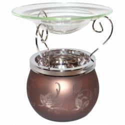 Yankee Candle Glas Leaf Finis Duftlampe braun