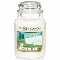 Yankee Candle Jar Glaskerze groß 623g Clean Cotton