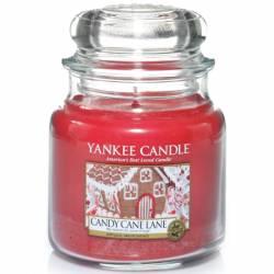 Yankee Candle Jar Glaskerze mittel 411g Candy Cane Lane