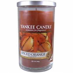 Yankee Candle Pillar Glaskerze mittel 340g Spiced Orange