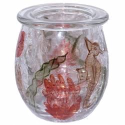 Yankee Candle Coral Crackle klein Teelichthalter