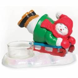 Yankee Candle Jolly Snowmen Sleigh Teelichthalter