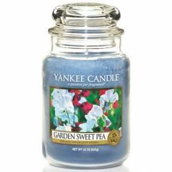 Yankee Candle Jar Glaskerze groß 623g Garden Sweet Pea