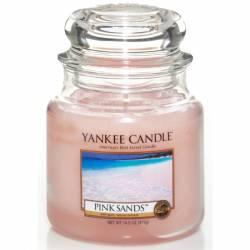 Yankee Candle Jar Glaskerze mittel 411g Pink Sands