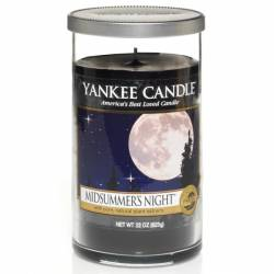 Yankee Candle Pillar Glaskerze mittel 340g Midsummers Night