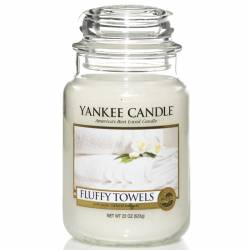 Yankee Candle Jar Glaskerze groß 623g Fluffy Towels