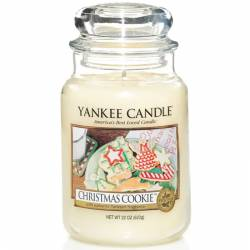 Yankee Candle Jar Glaskerze groß 623g Christmas Cookie