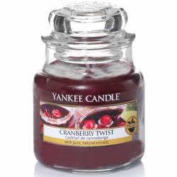 Yankee Candle Jar Glaskerze klein 104g Cranberry Twist