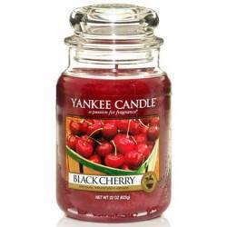 Yankee Candle Jar Glaskerze groß 623g Black Cherry