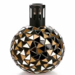 Katalytische Duftlampe Millefiori Lampair Mosaik schwarz gold
