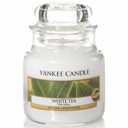 Yankee Candle Jar Glaskerze klein 104g White Tea