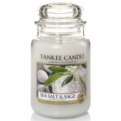 Yankee Candle Jar Glaskerze groß 623g Sea Salt & Sage