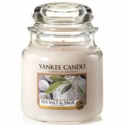 Yankee Candle Jar Glaskerze mittel 411g Sea Salt & Sage