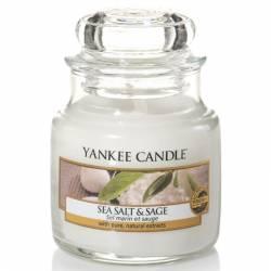 Yankee Candle Jar Glaskerze klein 104g Sea Salt & Sage