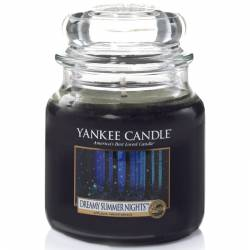 Yankee Candle Jar Glaskerze mittel 411g Dreamy Summer Nights