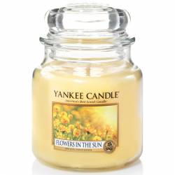 Yankee Candle Jar Glaskerze mittel 411g Flowers in the Sun