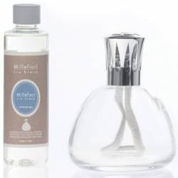 Set katalytische Duftlampe Millefiori Lampair Bell klar Mineral Sea
