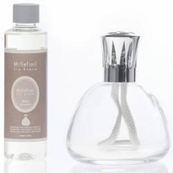 Set katalytische Duftlampe Millefiori Lampair Bell klar Floral Romance
