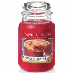 Yankee Candle Jar Glaskerze groß 623g Rhubarb Crumble
