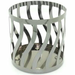 Yankee Candle Curve Line Gun Metall Jar Sleeve/Halter