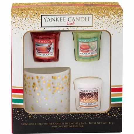 yankee candle geschenkset weihnachten 3 votive votivhalter. Black Bedroom Furniture Sets. Home Design Ideas