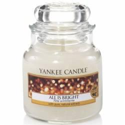 Yankee Candle Jar Glaskerze klein 104g All is Bright