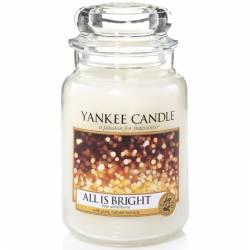 Yankee Candle Jar Glaskerze groß 623g All is Bright