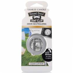 Yankee Candle Smart Scent Vent Clip Autoduft Clean Cotton