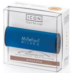 Legni & Spezie – Halter Icon Classic blau - Autoduft Millefiori