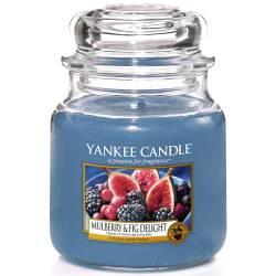 Yankee Candle Jar Glaskerze mittel 411g Mulberry & Fig Delight