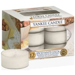 Yankee Candle Teelichter 12er Pack Spiced White Cocoa