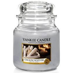 Yankee Candle Jar Glaskerze mittel 411g Crackling Wood Fire