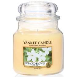 Yankee Candle Jar Glaskerze mittel 411g Tobacco Flower