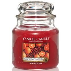 Yankee Candle Jar Glaskerze mittel 411g Mandarin Cranberry