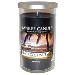Yankee Candle Pillar Glaskerze mittel 340g Black Coconut