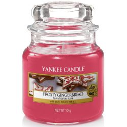Yankee Candle Jar Glaskerze klein 104g Frosty Gingerbread