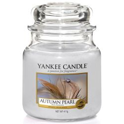 Yankee Candle Jar Glaskerze mittel 411g Autumn Pearl