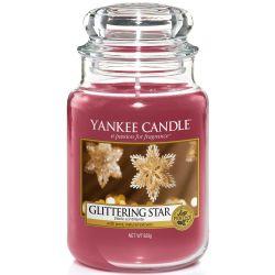 Yankee Candle Jar Glaskerze groß 623g Glittering Star