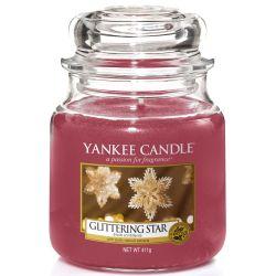 Yankee Candle Jar Glaskerze mittel 411g Glittering Star