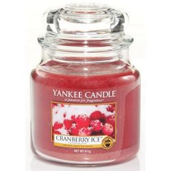 Yankee Candle Jar Glaskerze mittel 411g Cranberry Ice