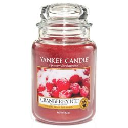 Yankee Candle Jar Glaskerze groß 623g Cranberry Ice