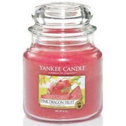 Yankee Candle Jar Glaskerze mittel 411g Pink Dragon Fruit *