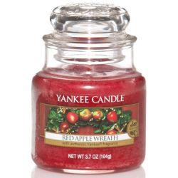 Yankee Candle Jar Glaskerze klein 104g Red Apple Wreath