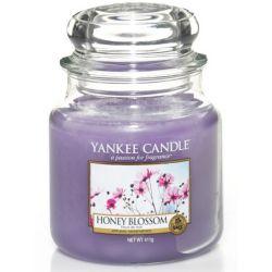 Yankee Candle Jar Glaskerze mittel 411g Honey Blossom *