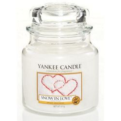 Yankee Candle Jar Glaskerze mittel 411g Snow in Love