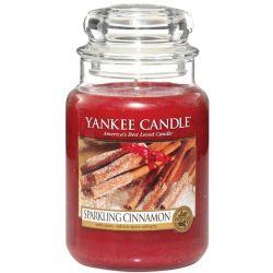 Yankee Candle Jar Glaskerze groß 623g Sparkling Cinnamon *