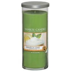 Yankee Candle Pillar Glaskerze gross 566g Vanilla Lime